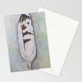 Killdeer feather Stationery Cards