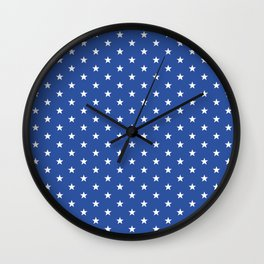 Superstars White on Blue Small Wall Clock