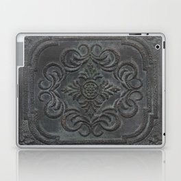 Antique Tin Ceiling Tile - Mixed Media Original Art by Tracy Sayers Trombetta Laptop & iPad Skin