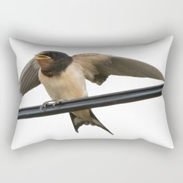 Swallow On A Wire Vector Rectangular Pillow
