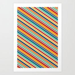 Rainbow Stripes Art Print