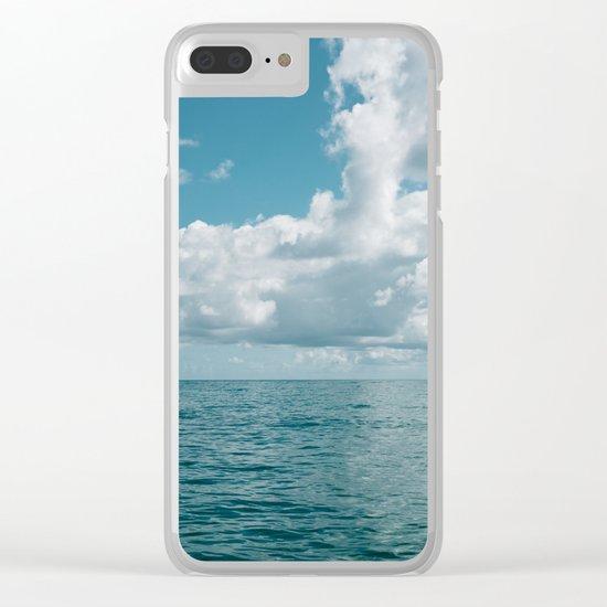 Hawaiian Ocean View Clear iPhone Case