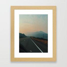 Smokey roads Framed Art Print