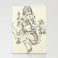 ganesha Stationery Cards featuring Ganesha by Makenzie
