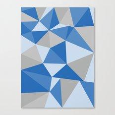 Blue & Gray Geometric Canvas Print