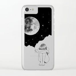 3 Minute Galaxy Clear iPhone Case