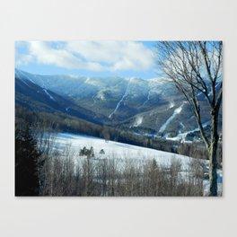 Ski Trails at Sugarbush Resort, Vermont Canvas Print