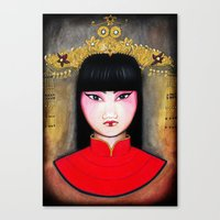 asia Canvas Prints featuring Asia by Melanie Arias