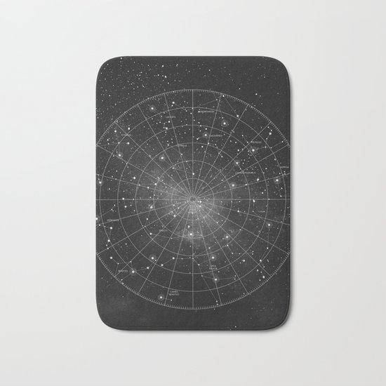 Constellation Star Map (B&W) Bath Mat