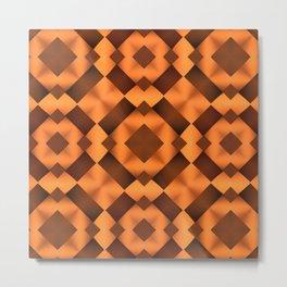 Pattern in Warm Tones Metal Print