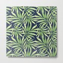 Tropical Branches on Dark Pattern 10 by serigraphonart