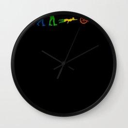 LGBT Triathlon Triathlete Gift Wall Clock