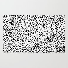 Retro Themed Dot Pattern Design Rug