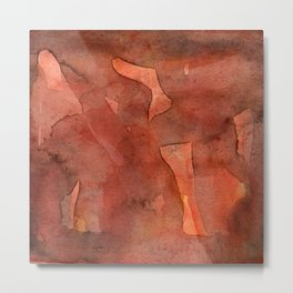 Abstract Nudes Metal Print