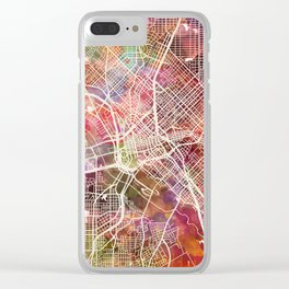 Dallas map 2 Clear iPhone Case