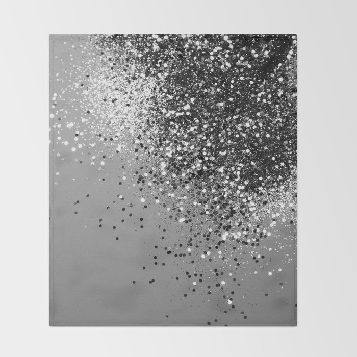 Sparkling Silver Gray Lady Glitter #1 #shiny #decor #art #society6 Throw Blanket