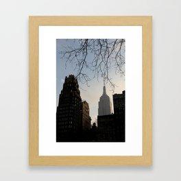 Empire State of Mind Framed Art Print