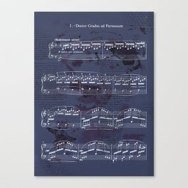 "Sheet Music - Debussy's ""Childrens Corner"" (Doctor Gradus ad Parnassum) Canvas Print"