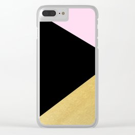 Color Block Glam Triangles Clear iPhone Case