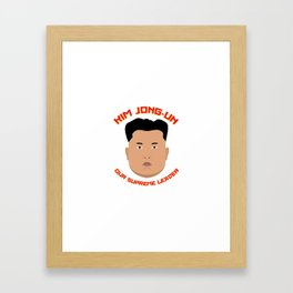 Kim Jong-Un Framed Art Print