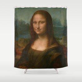Mona Lisa Classic Leonardo Da Vinci Painting Shower Curtain