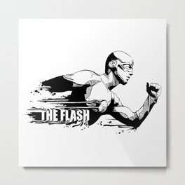 Fandom In Ink » The Flash Metal Print