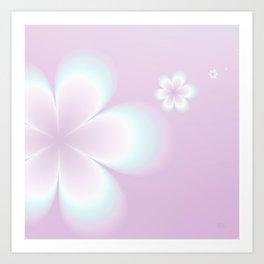 Petites Fleurs Roses Fractal Art Print