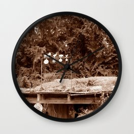 Targets on a Shed Wall Clock
