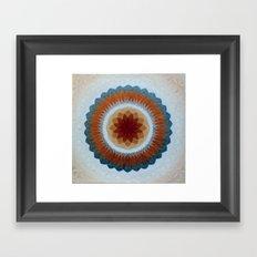 Toroidal Floral (ANALOG zine) Framed Art Print