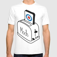 Mods Toaster White MEDIUM Mens Fitted Tee