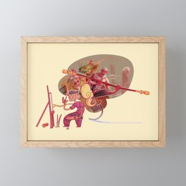Imagine the journey to the west Framed Mini Art Print