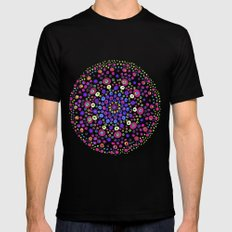 Stained glass Black MEDIUM Mens Fitted Tee