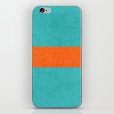 aqua and orange classic iPhone & iPod Skin