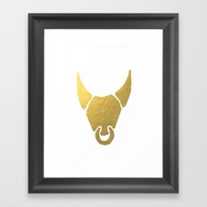 GOLD BULL HEAD - SPAIN SUMMER 2017 Framed Art Print