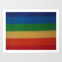 Rainbow Weaved Stripes Art Print