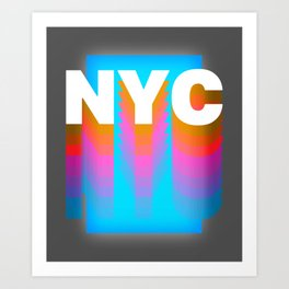 NYC colorful print design Art Print