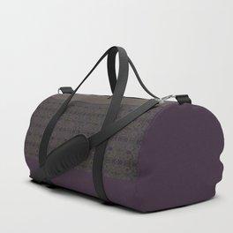 Brown purple patchwork Duffle Bag