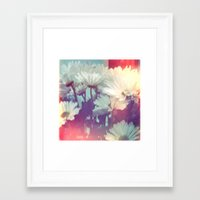 pushing daisies Framed Art Prints featuring Pushing Daisies by Paige Pederzani