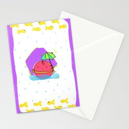 Moody planet-rain Stationery Cards