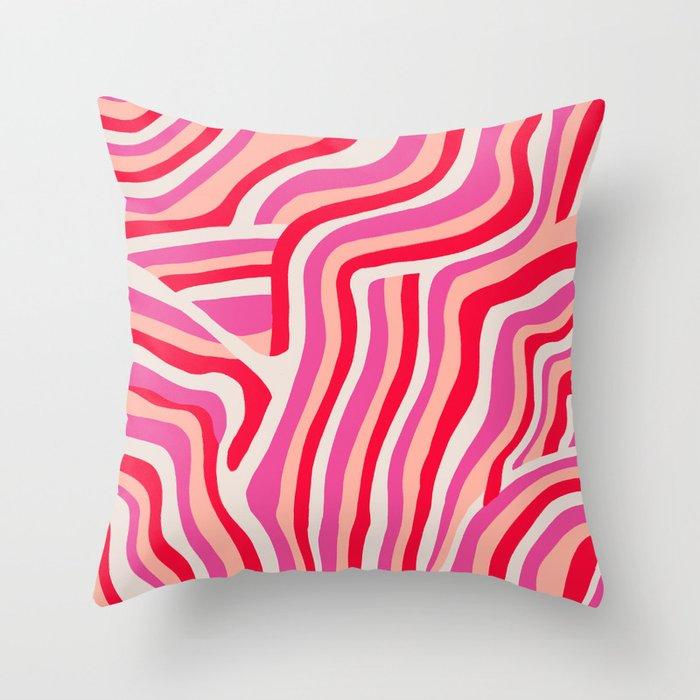 pink zebra stripes Deko-Kissen