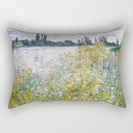"""Claude Monet """"Île aux Fleurs near Vétheuil"""" Rectangular Pillow"""