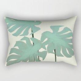 Tropical Monstera Watercolor Rectangular Pillow