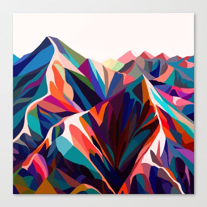 Mountains sunset warm Leinwanddruck