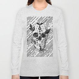 Abstract Skull B&W Long Sleeve T-shirt