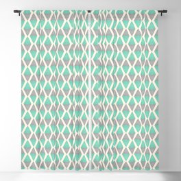 Gray and Teal Watercolor Geometric Shapes | Striped Pattern Blackout Curtain