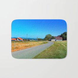 Another country road in summertime Bath Mat