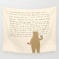 writing Wall Tapestries featuring Writing by Sarinya  Withaya