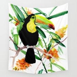 Toucan, Tropical Art, tropics Wall Tapestry