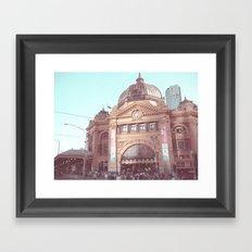 Flinders Street Station, Melbourne, Australia Framed Art Print