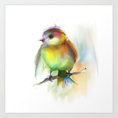 singing birdie Art Print